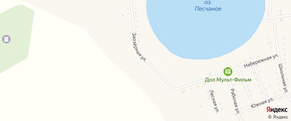 Заозерная улица на карте Песчаного села с номерами домов
