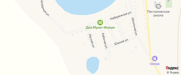 Лесная улица на карте Песчаного села с номерами домов