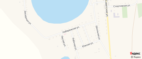 Набережная улица на карте Песчаного села с номерами домов