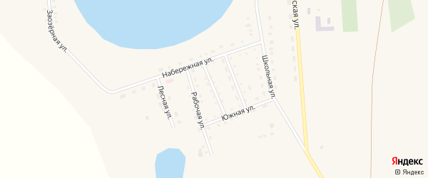 Улица Строителей на карте Песчаного села с номерами домов