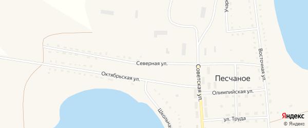 Северная улица на карте Песчаного села с номерами домов
