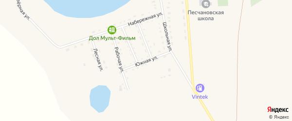 Южная улица на карте Песчаного села с номерами домов