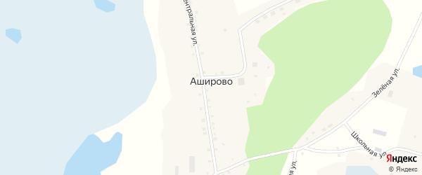 Зеленая улица на карте села Аширово с номерами домов