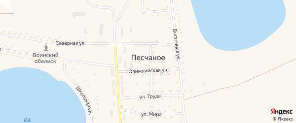 Рабочая улица на карте Песчаного села с номерами домов