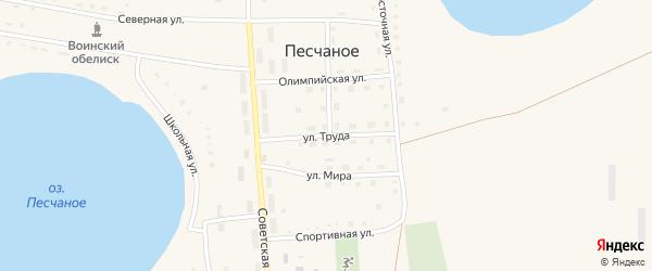 Улица Труда на карте Песчаного села с номерами домов