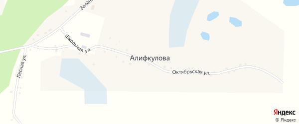 Лесная улица на карте деревни Алифкулова с номерами домов