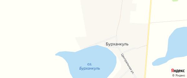Карта деревни Бурханкуля в Челябинской области с улицами и номерами домов