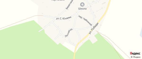 Лесная улица на карте села Таукаево с номерами домов