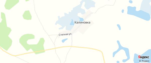 Карта деревни Калиновки в Челябинской области с улицами и номерами домов