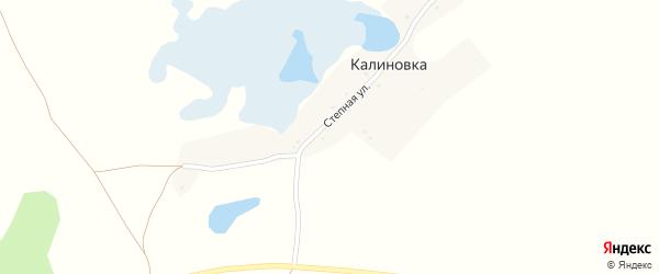Степная улица на карте деревни Калиновки с номерами домов