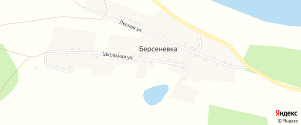 Лесная улица на карте деревни Берсеневки с номерами домов