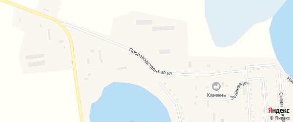Производственная улица на карте села Белозеры с номерами домов