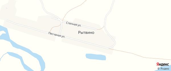 Песчаная улица на карте поселка Рытвино с номерами домов