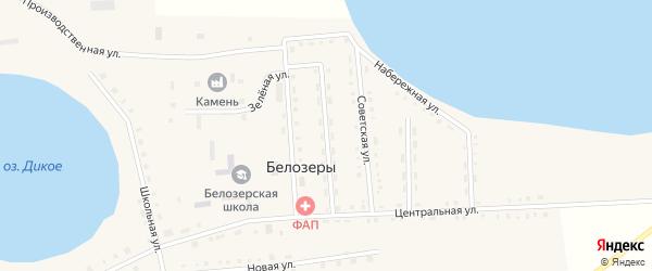 Улица 9 Пятилетки на карте села Белозеры с номерами домов