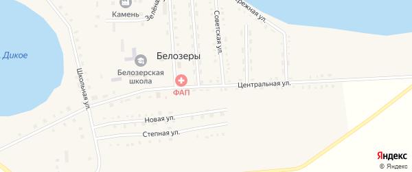 Центральная улица на карте села Белозеры с номерами домов