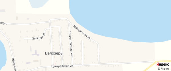 Набережная улица на карте села Белозеры с номерами домов