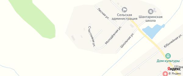 Счастливая улица на карте поселка Шантарино с номерами домов