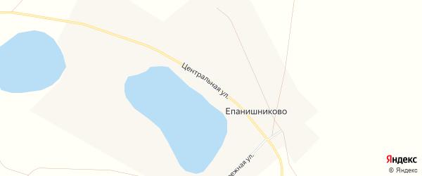 Карта деревни Епанишниково в Челябинской области с улицами и номерами домов