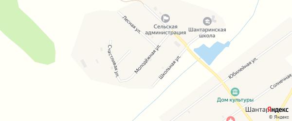 Молодежная улица на карте поселка Шантарино с номерами домов
