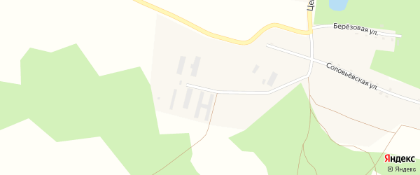 Молодежная улица на карте села Калуги-Соловьевки с номерами домов