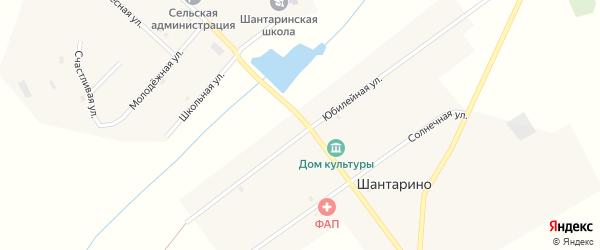 Центральная улица на карте поселка Шантарино с номерами домов