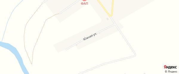 Южная улица на карте поселка Шантарино с номерами домов