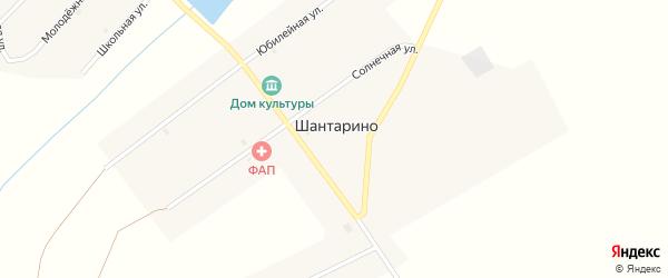 Западная улица на карте поселка Шантарино с номерами домов