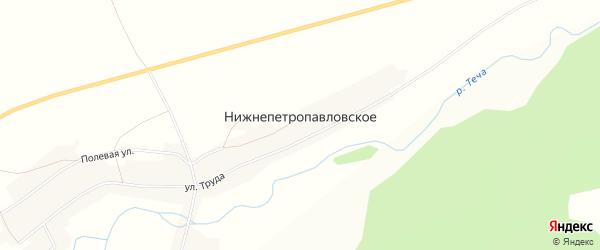 Карта Нижнепетропавловского села в Челябинской области с улицами и номерами домов