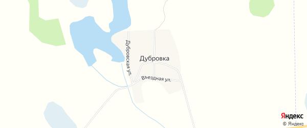 Карта деревни Дубровки в Челябинской области с улицами и номерами домов