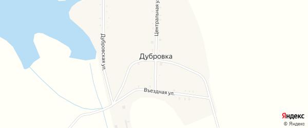Центральная улица на карте деревни Дубровки с номерами домов