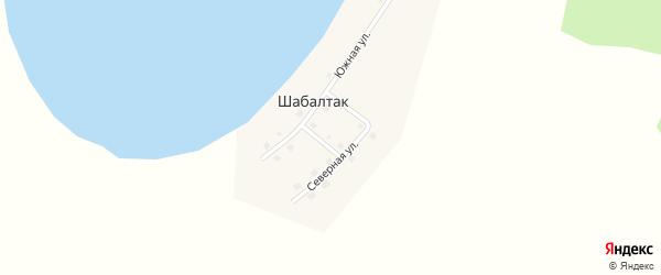 Северная улица на карте деревни Шабалтака с номерами домов