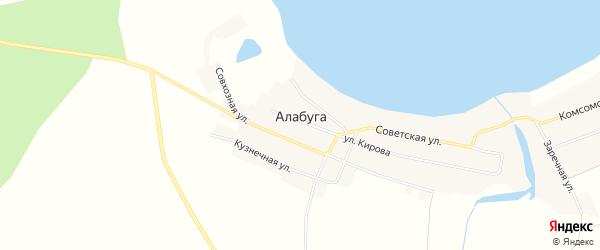 Карта села Алабуги в Челябинской области с улицами и номерами домов