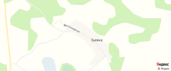 Карта деревни Зуевки в Челябинской области с улицами и номерами домов