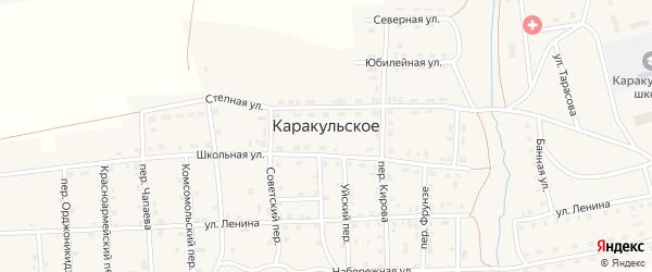 Уйский переулок на карте Каракульского села с номерами домов