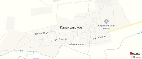 Карта Каракульского села в Челябинской области с улицами и номерами домов