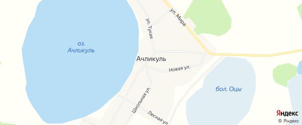 Карта села Ачликуля в Челябинской области с улицами и номерами домов