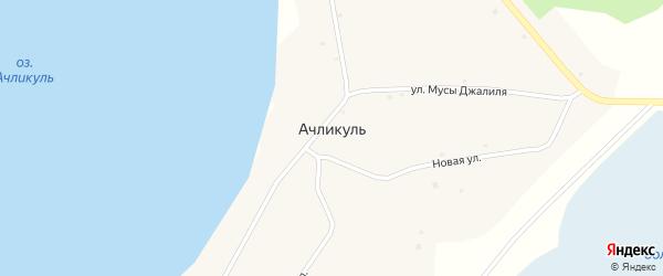 Г.Тукая улица на карте села Ачликуля с номерами домов