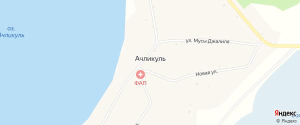 Лесная улица на карте села Ачликуля с номерами домов