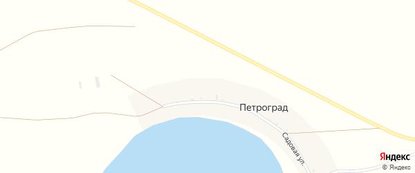 Садовая улица на карте деревни Петрограда с номерами домов