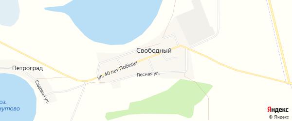 Карта Свободного поселка в Челябинской области с улицами и номерами домов