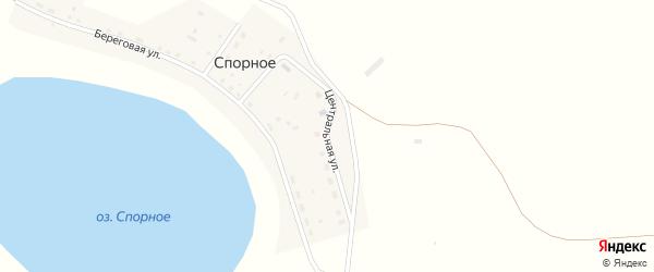 Центральная улица на карте деревни Спорного с номерами домов
