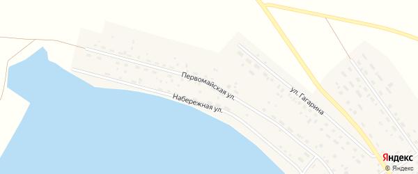 Первомайская улица на карте Подовинного села с номерами домов