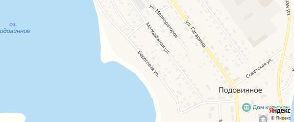 Береговая улица на карте Подовинного села с номерами домов