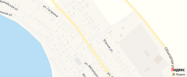 Южный переулок на карте Подовинного села с номерами домов