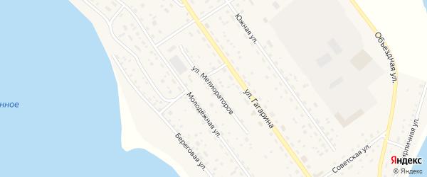 Улица Мелиораторов на карте Подовинного села с номерами домов