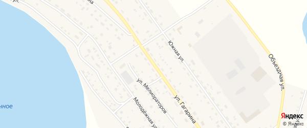 Улица Гагарина на карте Подовинного села с номерами домов