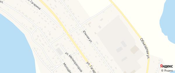 Южная улица на карте Подовинного села с номерами домов