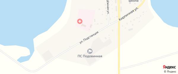 Улица Подстанция на карте Подовинного села с номерами домов