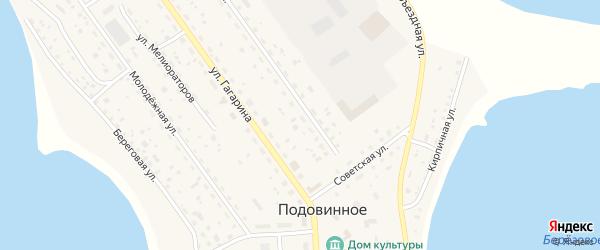 Набережная улица на карте Подовинного села с номерами домов