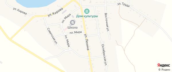 Улица Ленина на карте села Чудиново с номерами домов